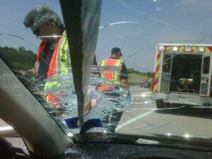 Dallas Accident Caused by Road Debris
