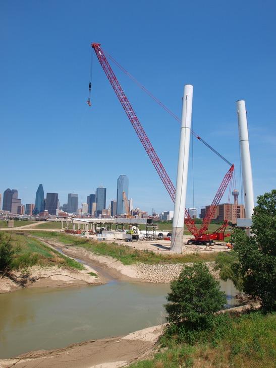 Summer construction site in Dallas, TX